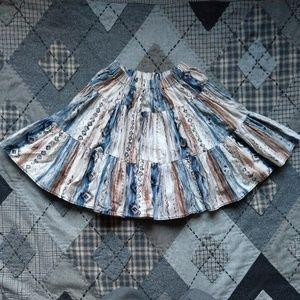 Handmade Southwestern Mini Circle Skirt